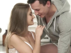 Fresh teen, Tiffany Tatum is making love with her best friend, in the middle of the day