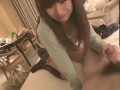 Amazing Japanese slut Mahiro Aine in Fabulous Threesomes, Blowjob JAV video
