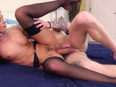 My Friend's Hot Mom - India Summer fucking in the bedroom with her tattoos