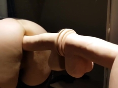 Almost Caught with my Big Anal Toy in the Fitting Room