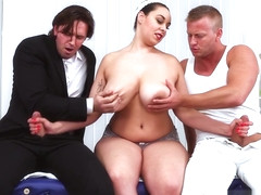 Three On A Massage Table - Anastasia Lux, Dennis Reed, and Tom Holland - Scoreland