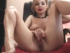 Luxury hot ukrainian girl get naked and masturbating until cumming
