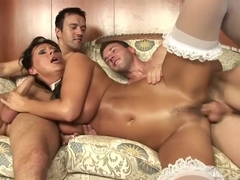 Naughty Maid Mandy Bright Gets Double Penetrated