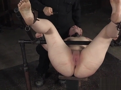 Bootylicious slave punished hard by master