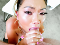 Lana Croft in Busty Asian MILF Lana's Deepthroat BJ - EvilAngel