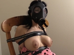 hannah mouth stuffed medical tape gagged and masked