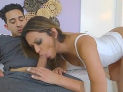 Latina Hottie Nicole Ray Gets Bent Over By Bf