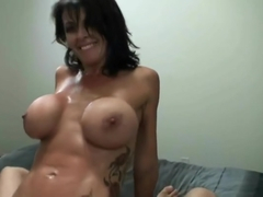Marvelous buxomy latin experienced female in cumshot XXX scene