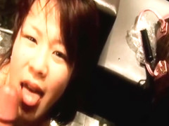 Dirty Asian On Her Knees Sucks And Facial In Public