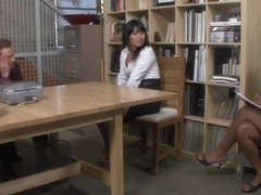 Rane Revere & Yuki Mori & Bill Bailey in Naughty Office