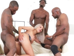 Nina Elle Fucks With Three Stallions
