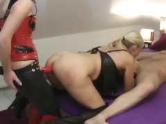 Submissive Mature Wife Gets Strapon Fucked By Her Neighbor