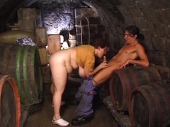 fucking my bbw in the cellar