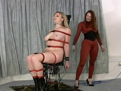 Adrianna Nicole bondage chair fuck machine