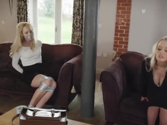 naive blondiel bound by 2 girls
