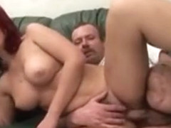 Mature Redhead Gets Her Experienced Twat Pumped By Old