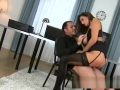 Chesty Secretary Gets Humped By The Big Boss