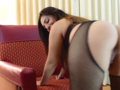 Fat Booty in Fishnets Latinas Playing with pussy