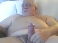 Grandpa cum on webcam 3