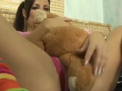 Cute teen enjoys some fun with her pussy