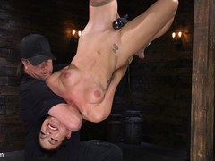 Caged Heat: Chelsea Marie Uses Up Her Caged Sex Slave Violet Monroe - HogTied