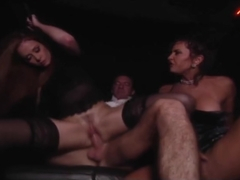 Limo Backseat Drive By Threesome - VCA