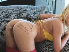 Teen Marsha May offers up her asshole to a lucky guy