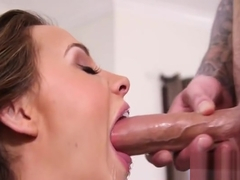 Unearthly buxomy Chanel Preston featuring hot handjob sex video