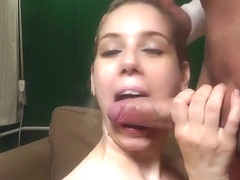 Classy golden-haired young whore Katrin Wolf brings man to ejaculation