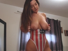 Victoria Raye Shows Off her Tits for July 4th
