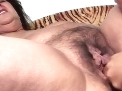 Chunky Older Woman Gets Her Hairy Pussy Worked By A Sexy You
