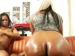 Rampant Vanessa Monet is splatted in dick cream