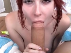 Redhead Teen Pixie Zoey Nixon Giving A Wet Blowjob