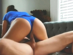 Neighbor Cums all over my SUPERGIRL panties after a creamy dick ride