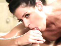 Horny bitches, India Summer, Ella Nova and Texas Patti like to be fucked, while on the massage tab.
