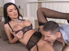 Best pornstar Ania Kinski in Incredible Brunette, Stockings xxx video