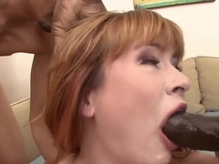 Black Cock Deepthroating With Claire Robbins
