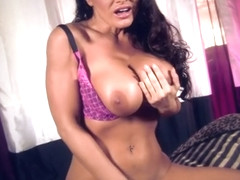 Heavenly busty Lisa Ann in passionate masturbation porn video