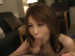 Unearthly Japanese mom Riko Honda is making dude cum
