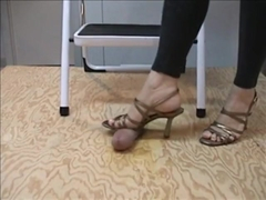 Gold Sandal Cock Trample Full