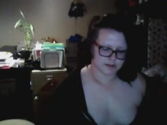 Shy chubby emo girl on skype