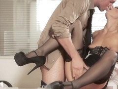 Latina Alexa Tomas fucked in the office by her boss