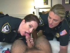 Huge fake tit blonde milf Noise Complaints make messy cockslut cops like