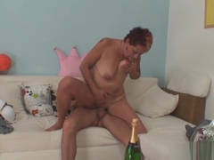 Wife finds old mother riding his cock!