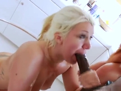 Lezzie sex kittens gape their deep anuses and screw massive toys