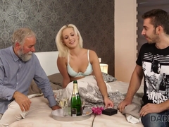 DADDY4K. Blonde celebrates birthday together with horny bearded dad