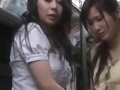 wife hard threesome fucked by driver on bus 02
