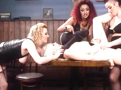 Blonde group anal fucked in lezdom