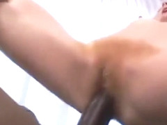 Wild Redhead Takes A Fat Black Dick Up Her Hairy Snatch