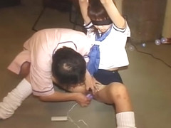 Japanese Teen In Sailor Uniform Giving An Ass Job